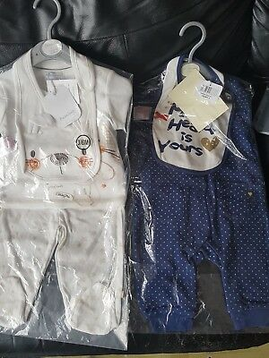 brand new with tags 2 x  baby girl outfits 3 to 6 months