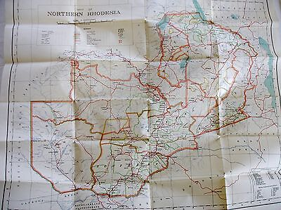 1937 Map Northern Rhodesia
