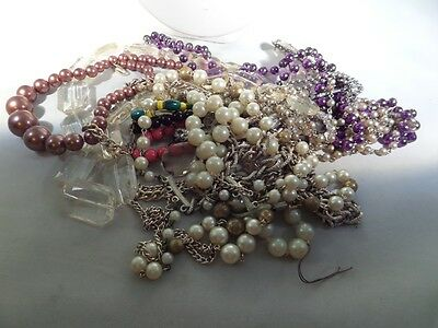 Vintage to Now Damaged Jewelry Lot for Parts Repairs or Crafting Z5