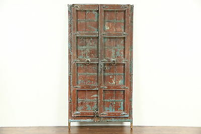 Dutch East Indies Java Antique 1900 Architectural Salvage Pair of Teak Doors