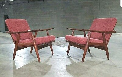 Pair of Hans Wegner GE-270 Teak Lounge Chairs Getama Gedsted *SHIPPING AVAILABLE