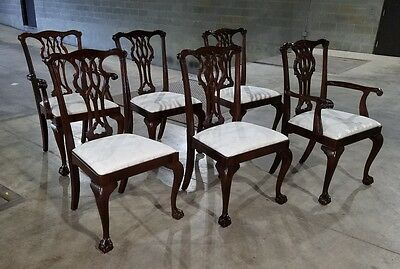 Councill Craftsman Dining Table, (6) Ball Claw Chairs & (3) Leaves *(WILL SHIP)*