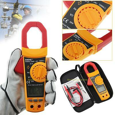 TRMS Mini LCD Digital Clamp Multimeter Voltmet AC/DC Current Volt Tester Meter
