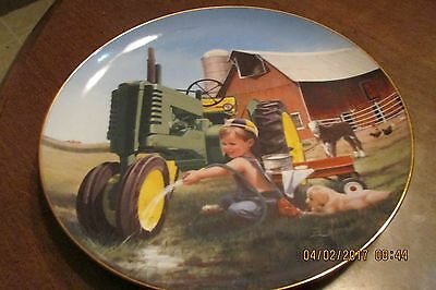 Little Farmhands Clean and Shiny Donald Zolan Danbury Mint Collectors Plate
