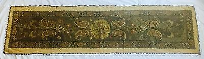 Fabulous ~ Regency Period Ottoman Empire Embroidered Runner -Bullion Gold/Silver