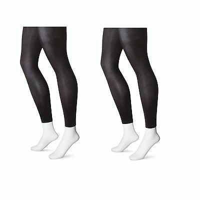 Lot Of 2 Xhilaration Women's Footless Tights - Black - 1X Plus