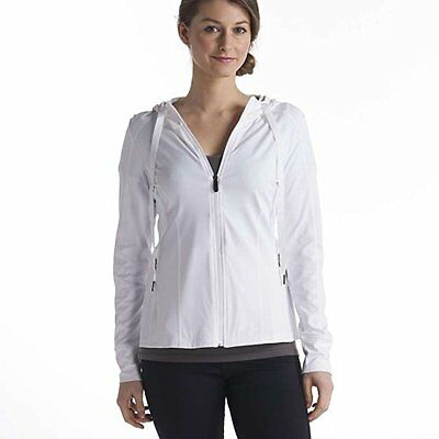 Lole Truly Hooded Cardigan Women's White Small Womens Cardigan Sweaters, New