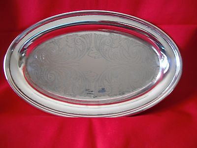 Silver Plated Bom Bom Oval Plate