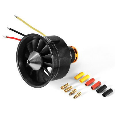 64mm/70mm Duct Fan Unit 12-Blade Prop Spare Parts for EDF Jet AirPlane Aircraft