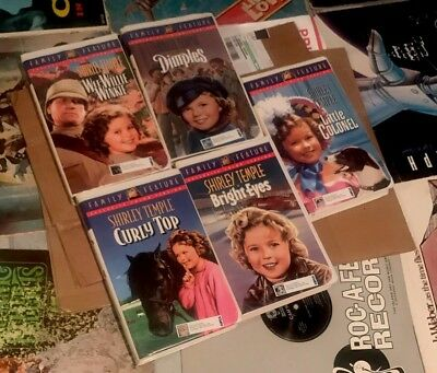 Shirley Temple New VHS Tapes Vintage Bundle Deal Lot Of 6 Mint Condition New