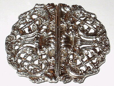 English Sterling Silver Nurses Buckle -  Birmingham 1876 - Makers Mark L.s.