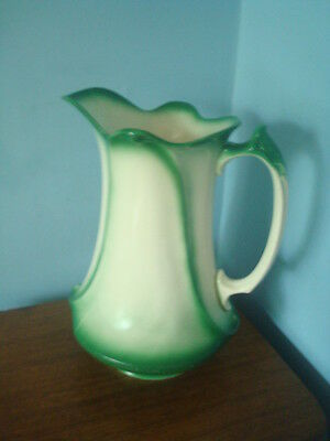 Victorian 1900 Ironstone Wash Basin Pitcher 13""
