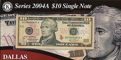 (12) Series 2004A Federal Reserve $10 Note District Set JE482
