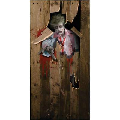 Scary ZOMBIE MAN Halloween Prop Party DOOR COVER POSTER Decoration 6'x 3'