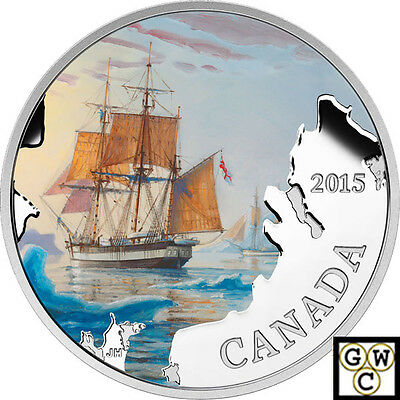 2015 Franklin's Lost Expedition-Lost Ships' Prf $20 1oz .9999 Silver (17416)
