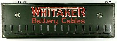 Vintage Whitaker Battery Cables Metal Rack Sign, The Novelty Art Co., OH 1920s