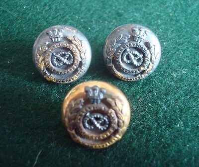 3X Early Small North Staffs Regiment Side Cap Buttons By Gaunt  14Mm Diameter