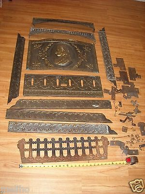 Victorian Dawson Bros.Antique fireplace insert Parts 1890s