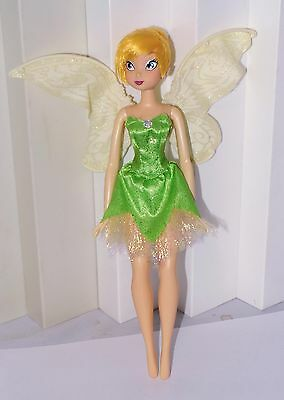 """Disney Tinker Bell  Doll FLAPPING WINGS (Motorized) 11"""" WORKS"""