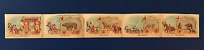 Victorian Trade Cards | McLaughlin Coffee | Die Cut Circus Wagon Complete Set