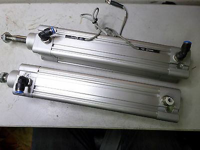 FESTO - Qty of 2 - AIR CYLINDERS 40mm Bore x 160mm Stroke -- DNCB-40-160-PPV-A