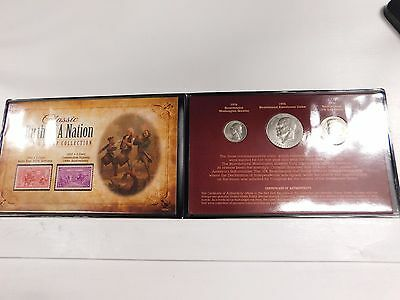 Birth of a Nation Coin and Stamp set in presentation folio