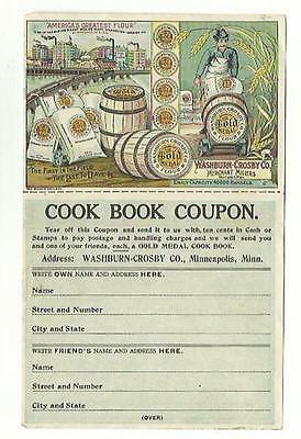 Old Color Litho AD Cook Book Coupon Washburn-Crosby Minneapolis Ginger Snaps