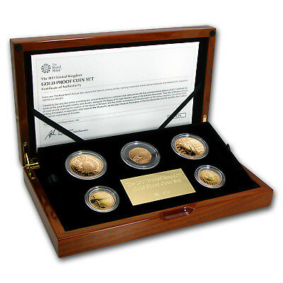 2017 Great Britain 5-Coin Proof Gold Annual Set