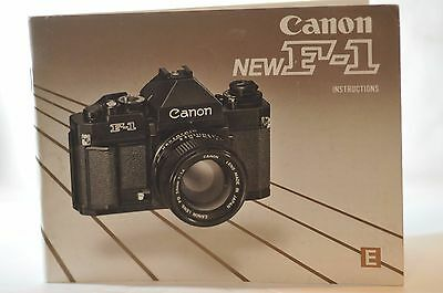 Canon F-1N NEW F1 instruction manual vintage