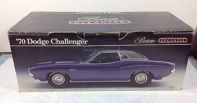 Jim Beam Dodge Challenger 340 Six Pack Yellow Decanter BOX ONLY