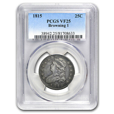 1815 Capped Bust Quarter VF-25 PCGS