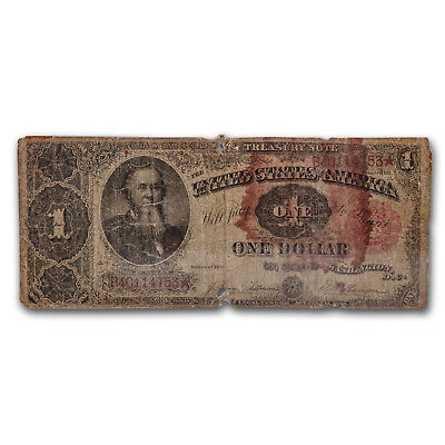 1891 $1.00 Treasury Note Stanton AG