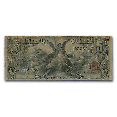 1896 $5.00 Silver Certificate Educational Note Good