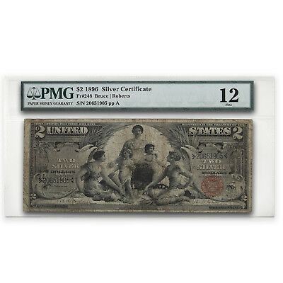 1896 $2.00 Silver Certificate Educational Note Fine-12 PMG