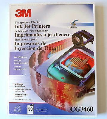 3M CG3460 Transparency Film for Color Ink Jet Printers - 50 Sheets/Box NEW