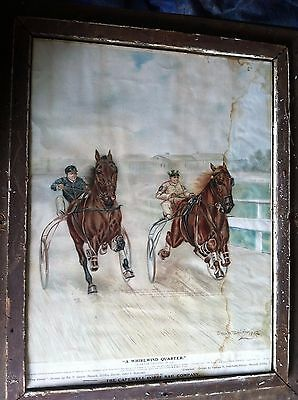 1905 Vintage Antique Advertising Poster For CAPEWELL HORSE NAIL CO  GENE SMITH