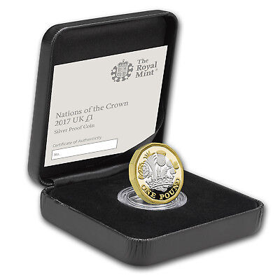 2017 Great Britain £1 Proof Silver Nations of the Crown