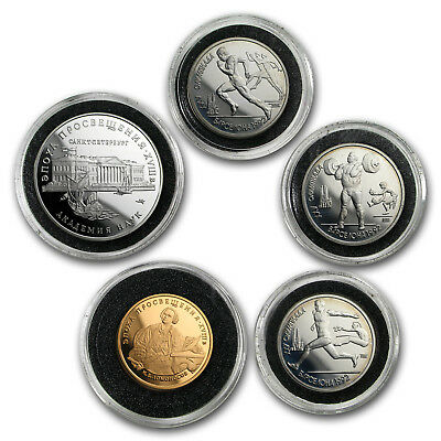 1992 Russia 5-Coin Gold/Silver Russian Democracy Proof Set