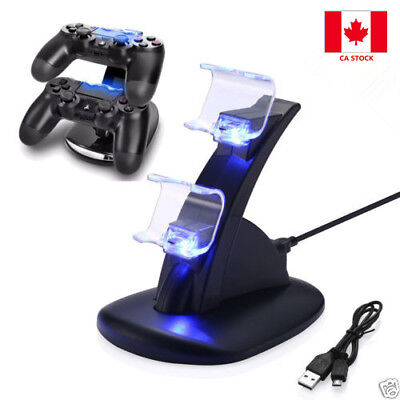 2 DC 5V USB Handle Fast Charging Dock Station Stand Charger for PS4 Controller
