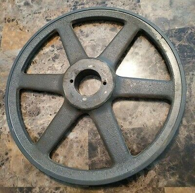 """Large Vintage 10 5/8"""" CAST IRON Pulley Wheel Steampunk, Industrial Art, Antique"""