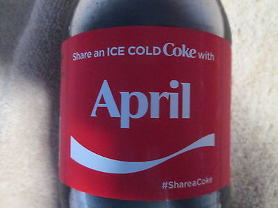 LIMITED EDITION 2017 Share a Coke with April-20 oz Collectible Coca-Cola Bottle