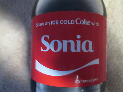 LIMITED EDITION 2017 Share a Coke with Sonia-20 oz Collectible Coca-Cola Bottle