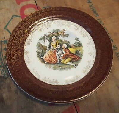 Vintage Taylor Smith & Taylor 2523 Small Decorative English Scene Plate