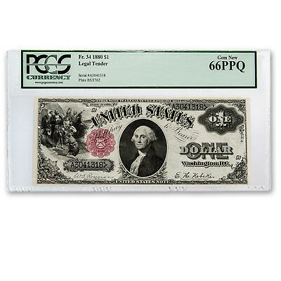 1880 $1.00 Legal Tender CU-66 PPQ PCGS