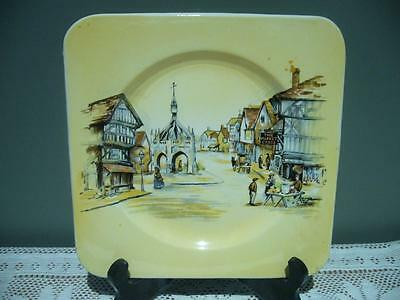 Vintage Lancaster & Sons 'the Market Cross' Biscuit / Slice Plate - Good Cond