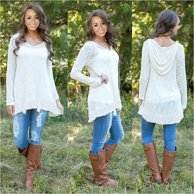 Womens Lady Loose Long Sleeve Casual Blouse Shirt Tops New Fashion Blouse XL ZR6