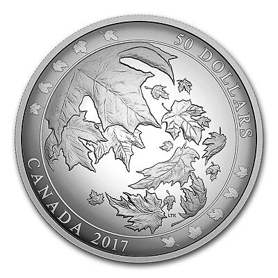 2017 Canada 5 oz Silver Maple Leaves in Motion