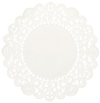 Brooklace LA904-2M 4in Round White Bond Lace Doily Case of 2,000, New