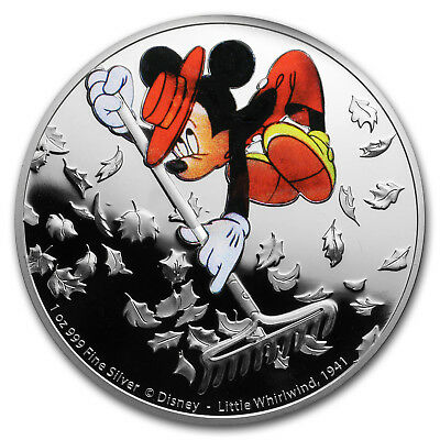2017 1 oz Ag $2 Mickey Through the Ages: The Little Whirlwind