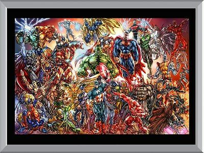 Marvel Superheroes Team A1 To A4 Size Poster Prints